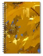 Yellow Maple Leaves Spiral Notebook