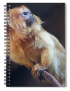 Yellow Monkey Spiral Notebook