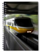 Yellow Monorail Entering The Station 02 Spiral Notebook