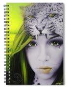 Yellow Moon Spiral Notebook
