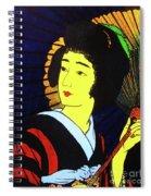 Yellow Moon Geisha Spiral Notebook