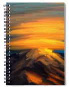 Yellow Mountaintop Hugged By Yellow Cloud  Spiral Notebook