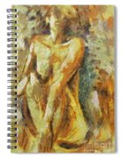 Yellow Nude Spiral Notebook