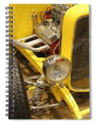 Street Car - Yellow Open Engine Spiral Notebook