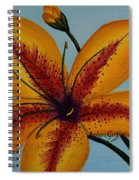 Yellow Oriental Lily Spiral Notebook