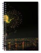 Yellow Burst Over Cincinnati Spiral Notebook