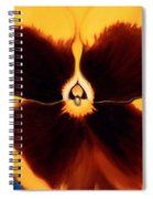 Yellow Pansy Spiral Notebook