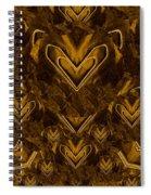Yellow Pop Art Hearts Spiral Notebook