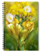 Yellow Poppies In Poppy Vase Spiral Notebook