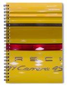yellow Porsche Spiral Notebook