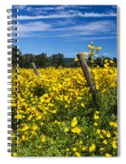 Yellow Profusion Spiral Notebook