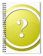Yellow Question Mark Round Button Spiral Notebook