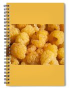 Yellow Raspberry Abstract Spiral Notebook