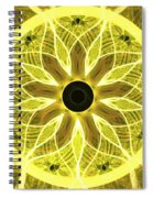 Yellow Rays Spiral Notebook