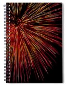 Yellow Red Firework Explosion Spiral Notebook