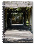 Yellow Rose Pergola Spiral Notebook