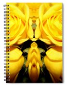 Yellow Roses Mirrored Effect Spiral Notebook