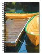 Yellow Rowboats Spiral Notebook