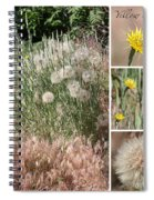 Yellow Salsify Collage Spiral Notebook