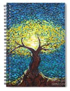 Yellow Squiggle Tree Spiral Notebook