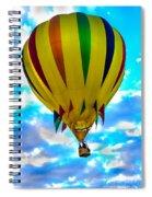 Yellow Striped Hot Air Balloon Spiral Notebook