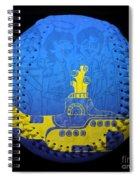 Yellow Submarine 2 Baseball Square Spiral Notebook