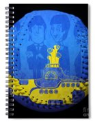 Yellow Submarine Baseball Square Spiral Notebook