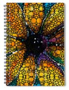 Yellow Sunflower - Stone Rock'd Art By Sharon Cummings Spiral Notebook