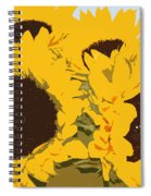 Yellow Sunflowers Spiral Notebook