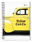 Yellow Taxi Cab Spiral Notebook