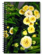 Yellow Tea Rose  Happy Mother's Day Spiral Notebook