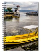 Yellow Tour Boat Spiral Notebook