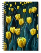 Yellow Tulip Field Spiral Notebook