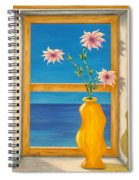 Yellow Vase With Sea View Spiral Notebook