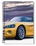 Yellow Viper Convertible Spiral Notebook