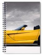 Yellow Viper Roadster Spiral Notebook