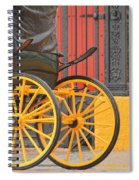 Yellow Wheeled Carriage In Seville Spiral Notebook