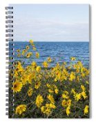 Yellow Wind Spiral Notebook