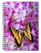 Yellow Wings Spiral Notebook