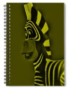 Yellow Zebra Spiral Notebook