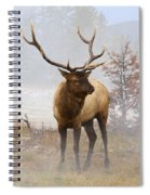 Yellowstone Bull Elk Spiral Notebook