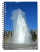 Yellowstone Grand Geyser Shooting Up High Spiral Notebook