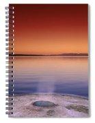 Yellowstone Lake And Geyser Spiral Notebook