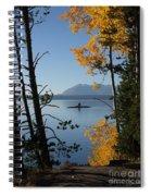 Yellowstone Lake At Dusk Spiral Notebook
