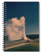 Yellowstone -- Old Faithful Vintage Spiral Notebook