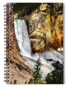 Yellowstone Lower Falls Rainbow Spiral Notebook