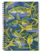 Yellowtail Frenzy In0023 Spiral Notebook
