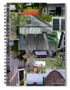 Yesterday Barns Collage Spiral Notebook