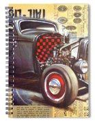 Yesterday Hotrod Spiral Notebook