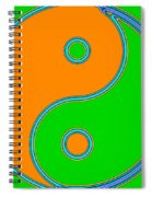 Yin Yang Orange Green Pop Art Spiral Notebook